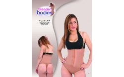 Item No.1444 Slender Bodies Catalog Thong Strapless Girdle Camel- cocoa