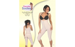 Item No.1493 Slender Bodies Catalog Knee Butt Lift with cotton Girdle Nude- Beige