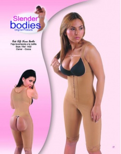 Item No.1432 Slender Bodies Catalog Butt Lift Knee Girdle Camel - Cocoa