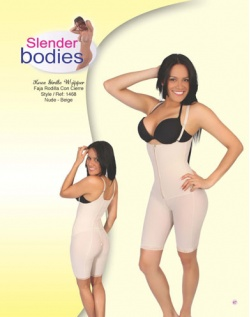 Item No.1468 Slender Bodies Catalog Knee Girdle With Zipper Nude- Beige