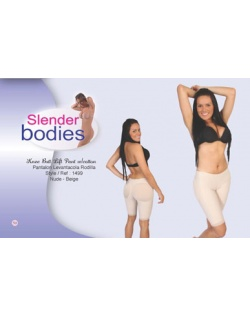 Item No.1499 Slender Bodies Catalog knee butt lift pant with cotton Nude- Beige