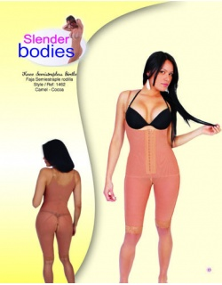 Item No.1462 Slender Bodies Catalog Knee Semi Strapless Girdle Camel - Cocoa