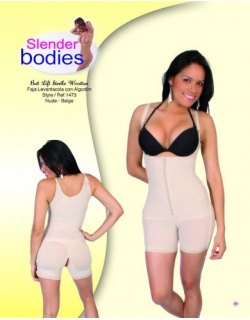 Item No.1473 Slender Bodies Catalog Butt Lift Girdle With Cotton Nude - Beige